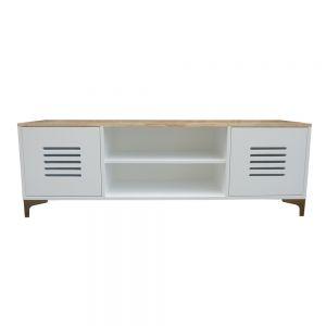 Kệ để TV phòng khách gỗ màu trắng 150x40x50 cm KTV68037