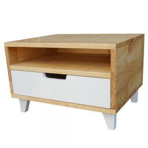 TDG68018 - Tủ đầu giường 1 ngăn kéo gỗ cao su 50x40x33cm