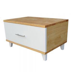 TDG68017 - Tủ đầu giường 1 ngăn kéo gỗ cao su 60x40x33cm