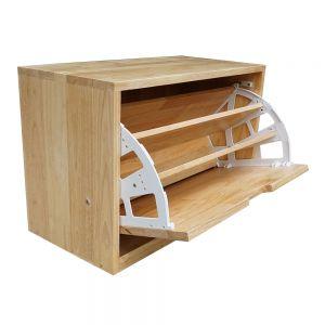 KG68018 - Tủ gỗ để giày 1 ngăn màu tự nhiên
