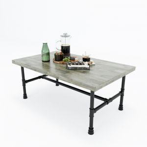 TT68042 - Bàn trà phòng khách gỗ cao su ống nước Tea Table 100x60x35cm