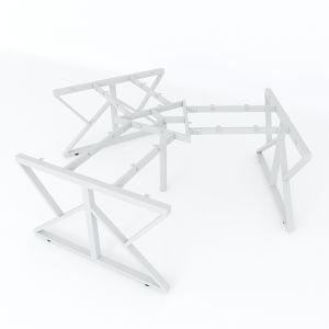 HCKC023 - Chân bàn cụm 3 hệ KConcept 236x205 lắp ráp