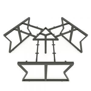 HCMC025 - Chân bàn cụm 3 hệ MConcept 236x205 lắp ráp