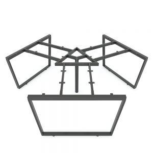 HCTC023 - Chân bàn cụm 3 hệ Trapeze Concept 236x205 lắp ráp