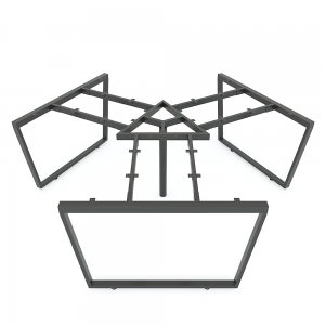 HCTC024 - Chân bàn cụm 3 hệ Trapeze Concept 236x205 lắp ráp