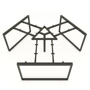 HCRT023 - Chân bàn cụm 3 hệ Rectang Concept 236x205cm lắp ráp