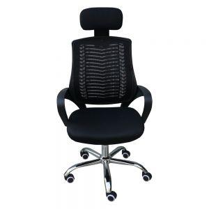 HOHA019 - Ghế văn phòng lưới chân xoay màu đen