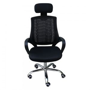 Ghế văn phòng lưới chân xoay màu đen HOHA019