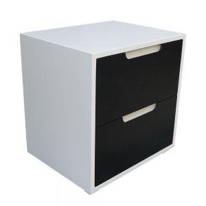 TDG68024 - Tủ đầu giường 2 ngăn kéo màu trắng 50x40x50cm