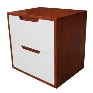 TDG68022 - Tủ đầu giường 2 ngăn kéo màu cánh gián 50x40x50cm
