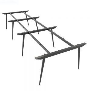 Chân bàn sắt hệ CONE Concept 360x120cm lắp ráp HCCO013