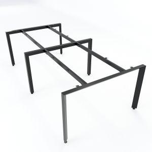 Chân bàn cụm 4 chỗ ngồi hệ Trian Concept 240x120 lắp ráp HCTA012