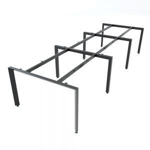 Chân bàn cụm 6 chỗ ngồi hệ Trian Concep 360x120 lắp ráp HCTA013