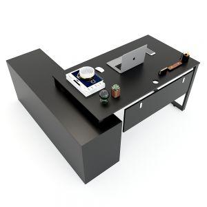 Bàn giám đốc 160x160cm hệ RECTANG chân sắt lắp ráp HBRT021