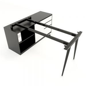 Chân bàn gác tủ hệ CONE Concept 140x70cm lắp ráp HCCO021