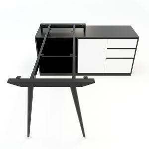 Chân bàn gác tủ hệ CONE Concept 140x60cm lắp ráp HCCO020