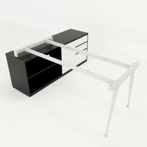Chân bàn gác tủ hệ CONE Concept 160x80cm lắp ráp HCCO022