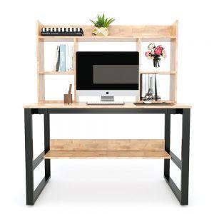 FD68022- Bàn làm việc FrameDesk kết hợp kệ gỗ ( 60x120x145cm)