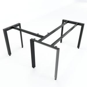Chân bàn chữ L chỗ ngồi hệ Trian Concep 140x150 lắp ráp HCTA015