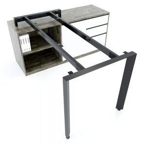Chân bàn gác tủ chỗ ngồi hệ Trian Concep 140x70 lắp ráp HCTA021
