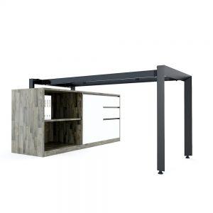 Chân bàn gác tủ chỗ ngồi hệ Trian Concep 140x60 lắp ráp HCTA020