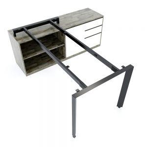 Chân bàn gác tủ chỗ ngồi hệ Trian Concep 160x80 lắp ráp HCTA022