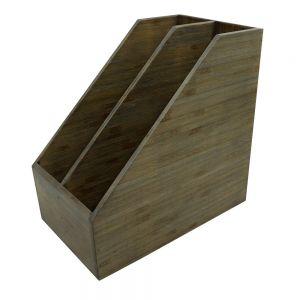 PKT003- Khay đựng tại liệu đôi gỗ tre ép màu nâu lau