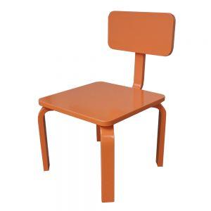GTE006 - Ghế trẻ em gỗ cao su màu Cam ( 30x30x56cm)