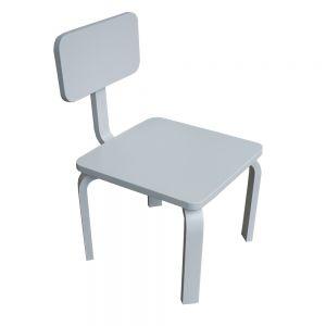 GTE005 - Ghế trẻ em gỗ cao su màu trắng ( 30x30x56cm)