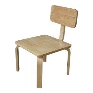 GTE001 - Ghế trẻ em gỗ cao su màu tự nhiên ( 30x30x56cm)