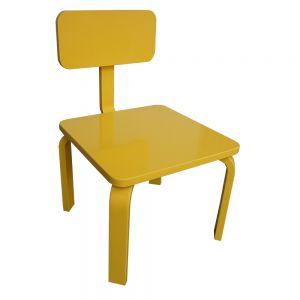 GTE002 - Ghế trẻ em gỗ cao su màu vàng ( 30x30x56cm)