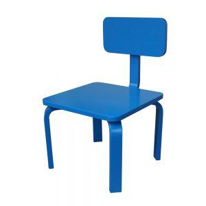 GTE003 - Ghế trẻ em gỗ cao su màu xanh dương ( 30x30x56cm)