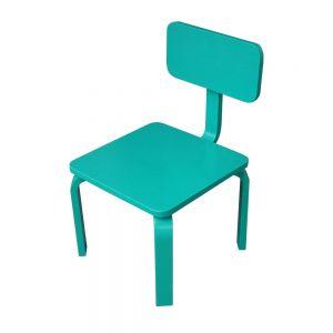 GTE004 - Ghế trẻ em gỗ cao su màu xanh ngọc ( 30x30x56cm)