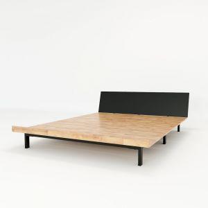 GN68016 - Giường ngủ JAPA 160x200cm gỗ cao su khung sắt lắp ráp