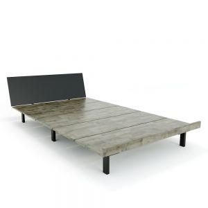 Giường ngủ JAPA 120x200cm gỗ cao su khung sắt lắp ráp GN68017