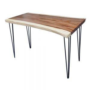 BMT021 - Bàn gỗ me tây dày 5cm chân Hairpin ( 60x120x75cm)