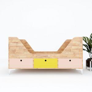 GTE001- Giường trẻ em MUN gỗ cao su ( 140x60x70cm)