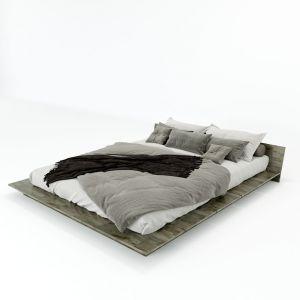 GN68018 - Giường ngủ JAPA gỗ cao su 190x220cm
