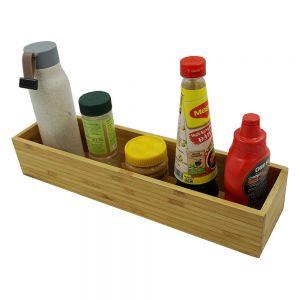 PKT010 - Khay để gia vị gỗ tre 1 ngăn dài (40x10x7cm)