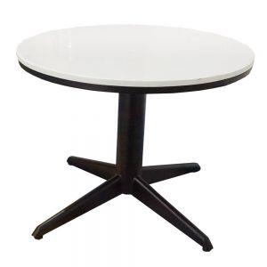 Bàn Sofa chân trụ tròn chia 4 sơn đen mặt Đá Trắng TT68063