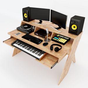 SD68006 - Bàn phòng thu StudioDesk gỗ cao su chân X ( 156x90x91cm)