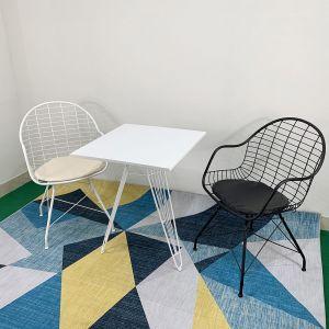 CBCF014 - Bộ bàn Cafe 60cm và 2 ghế Queen có nệm