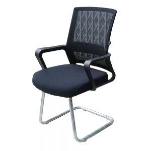 Ghế chân quỳ phòng họp màu đen chân tròn HOCQ68015