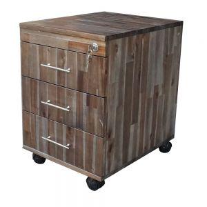 TCN68016 - Tủ cá nhân gỗ TRÀM màu Nâu 3 ngăn kéo có khoá ( 50x40x50cm)