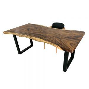 BMT034- Bàn gỗ me Tây nguyên tấm 80x180cm dày 7cm