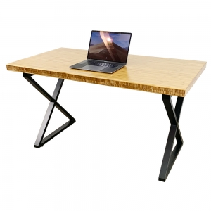 BFXB006 - Bàn gỗ tre Ép dày 5cm chân chữ X độc nhất