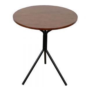 CFD68046- Bàn cafe tròn 60cm gỗ CAO Su chân sắt chãng 3 nhiều màu