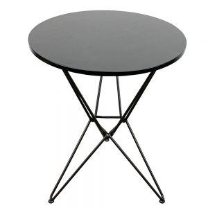 Bàn cafe tròn 60cm Gỗ cao su chân sắt kiểu Hairpin nhiều màu CFD68041