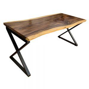 BMT030- Bàn gỗ Me Tây Nguyên Tấm 80x160cm chân X