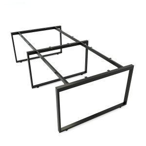 HCRT013- Chân sắt bàn cụm 4 hệ Rectang 120x240cm lắp ráp